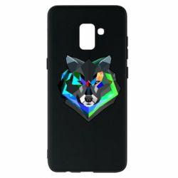 Чехол для Samsung A8+ 2018 Сolorful wolf