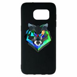Чехол для Samsung S7 EDGE Сolorful wolf