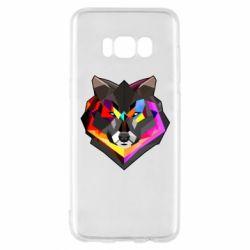 Чехол для Samsung S8 Сolorful wolf