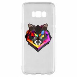Чехол для Samsung S8+ Сolorful wolf