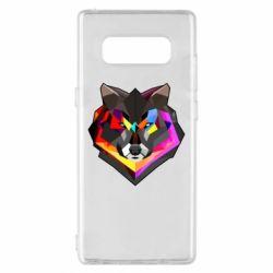 Чехол для Samsung Note 8 Сolorful wolf