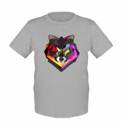 Детская футболка Сolorful wolf - FatLine