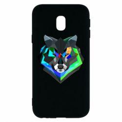 Чехол для Samsung J3 2017 Сolorful wolf