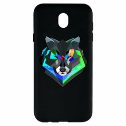 Чехол для Samsung J7 2017 Сolorful wolf