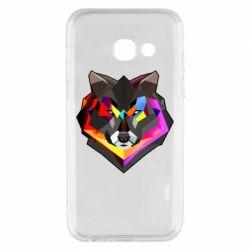 Чехол для Samsung A3 2017 Сolorful wolf
