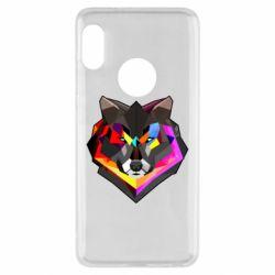Чехол для Xiaomi Redmi Note 5 Сolorful wolf