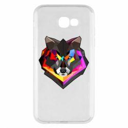 Чехол для Samsung A7 2017 Сolorful wolf