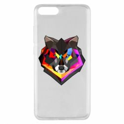 Чехол для Xiaomi Mi Note 3 Сolorful wolf