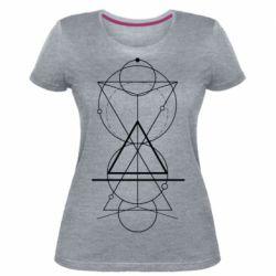 Жіноча стрейчева футболка Сomposition of geometric shapes