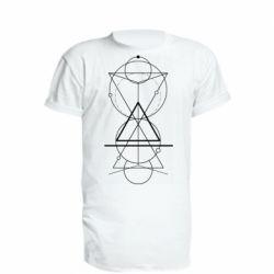 Подовжена футболка Сomposition of geometric shapes