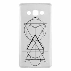 Чохол для Samsung A7 2015 Сomposition of geometric shapes
