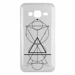 Чохол для Samsung J3 2016 Сomposition of geometric shapes