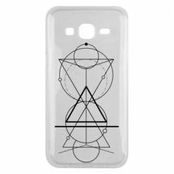 Чохол для Samsung J5 2015 Сomposition of geometric shapes