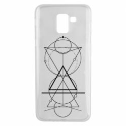 Чохол для Samsung J6 Сomposition of geometric shapes