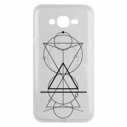 Чохол для Samsung J7 2015 Сomposition of geometric shapes