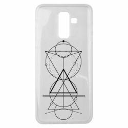Чохол для Samsung J8 2018 Сomposition of geometric shapes