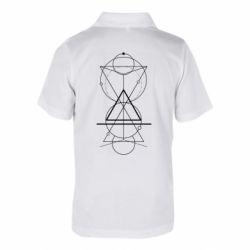 Дитяча футболка поло Сomposition of geometric shapes