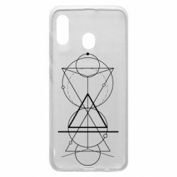 Чохол для Samsung A20 Сomposition of geometric shapes