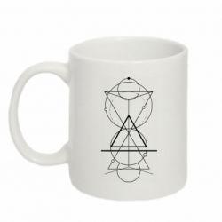 Кружка 320ml Сomposition of geometric shapes