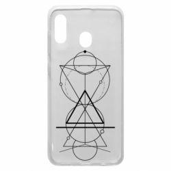 Чохол для Samsung A30 Сomposition of geometric shapes