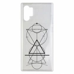 Чохол для Samsung Note 10 Plus Сomposition of geometric shapes