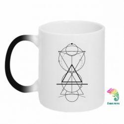 Кружка-хамелеон Сomposition of geometric shapes