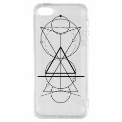 Чохол для iphone 5/5S/SE Сomposition of geometric shapes