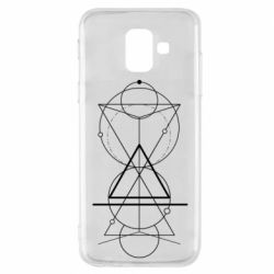 Чохол для Samsung A6 2018 Сomposition of geometric shapes