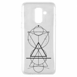 Чохол для Samsung A6+ 2018 Сomposition of geometric shapes