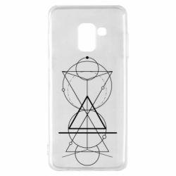 Чохол для Samsung A8 2018 Сomposition of geometric shapes