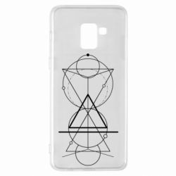 Чохол для Samsung A8+ 2018 Сomposition of geometric shapes