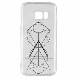 Чохол для Samsung S7 Сomposition of geometric shapes