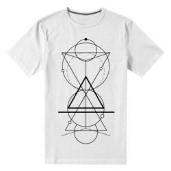 Чоловіча стрейчева футболка Сomposition of geometric shapes
