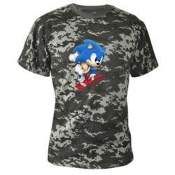 Камуфляжная футболка Sonic 3d - FatLine