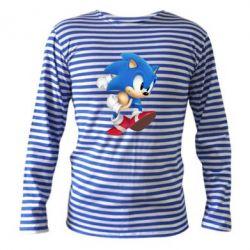 Тельняшка с длинным рукавом Sonic 3d - FatLine