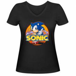 Жіноча футболка з V-подібним вирізом Sonic lightning