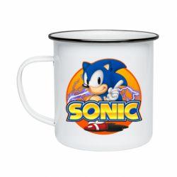 Кружка емальована Sonic lightning