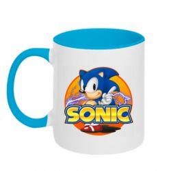 Кружка двоколірна 320ml Sonic lightning