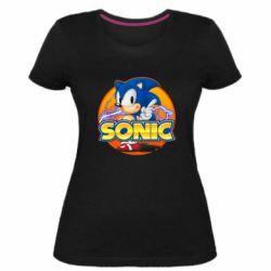 Жіноча стрейчева футболка Sonic lightning