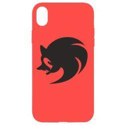Чехол для iPhone XR Sonic logo
