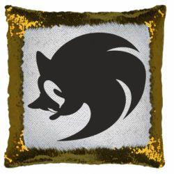 Подушка-хамелеон Sonic logo