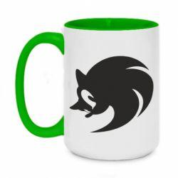 Кружка двухцветная 420ml Sonic logo