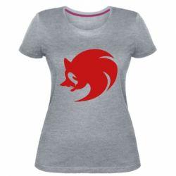 Женская стрейчевая футболка Sonic logo