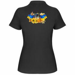 Женская футболка поло Сонячна Україна - FatLine