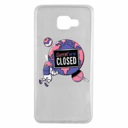 Чохол для Samsung A7 2016 Sorry we're closed