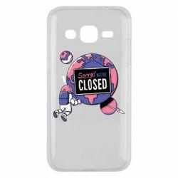 Чохол для Samsung J2 2015 Sorry we're closed