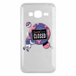 Чохол для Samsung J3 2016 Sorry we're closed
