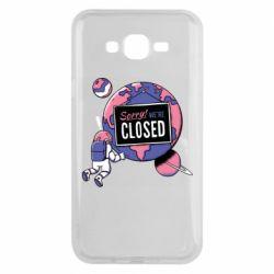 Чохол для Samsung J7 2015 Sorry we're closed