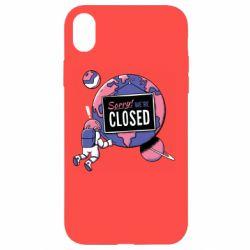 Чохол для iPhone XR Sorry we're closed