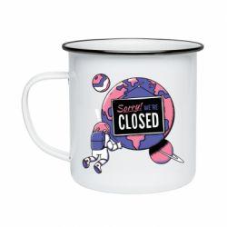 Кружка емальована Sorry we're closed